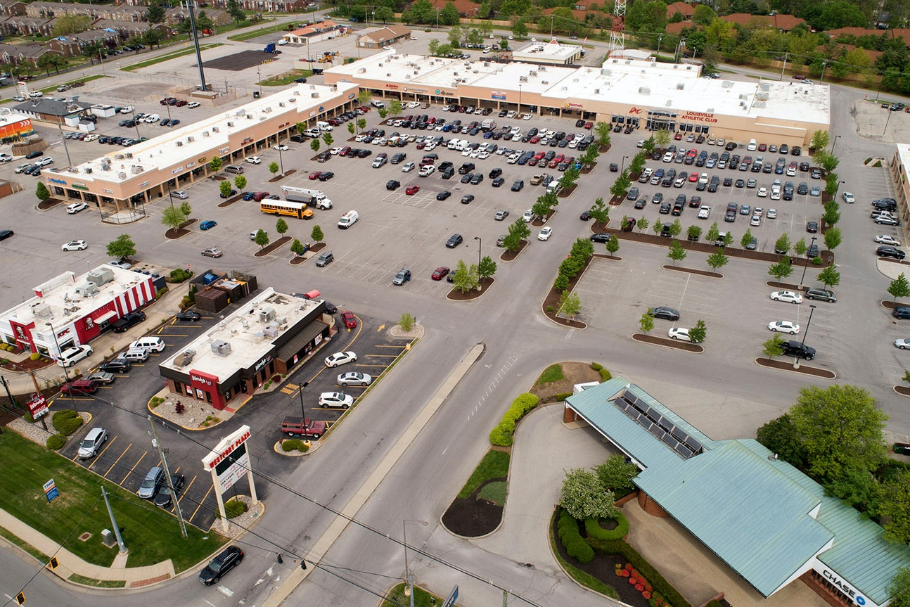 aerial photo of the westport plaza