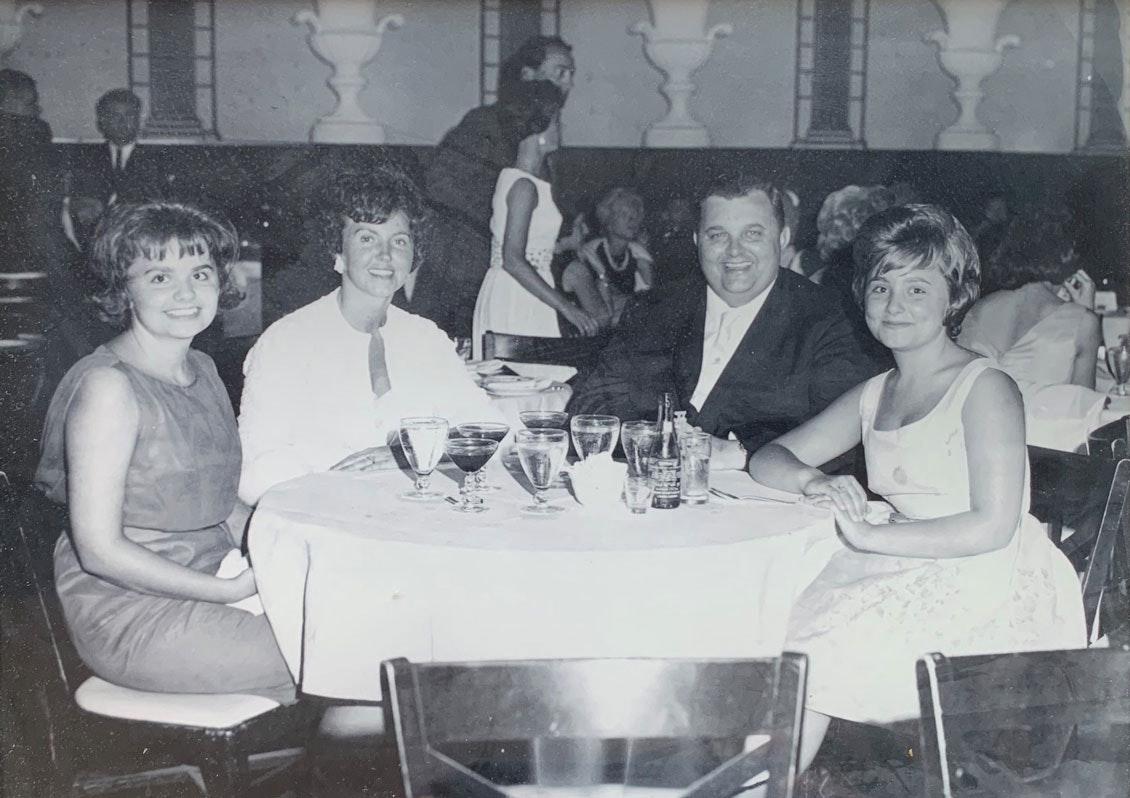 McMahan family photo black and white